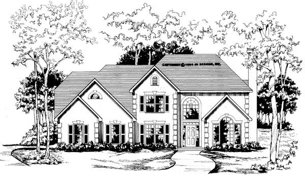 Traditional House Plan 58009 Elevation