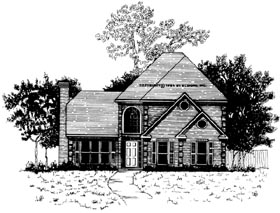Traditional House Plan 58010 with 3 Beds, 2.5 Baths, 2 Car Garage Elevation