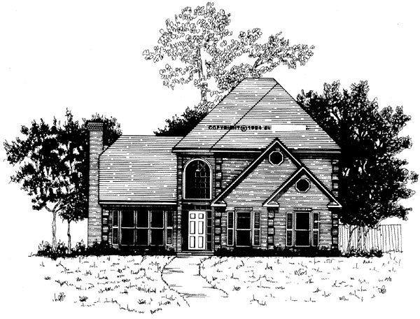 Traditional House Plan 58010 Elevation