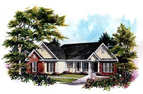Traditional House Plan 58011 Elevation