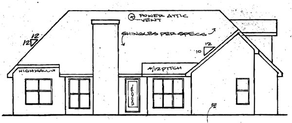 Traditional House Plan 58011 Rear Elevation