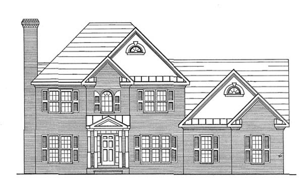 House Plan 58012 | Traditional Style Plan with 2269 Sq Ft, 4 Bedrooms, 2 Bathrooms, 2 Car Garage Elevation