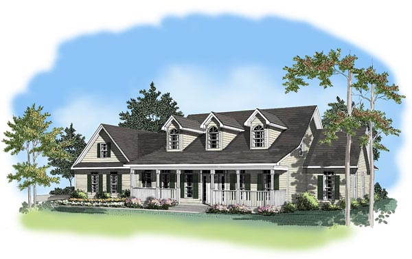 Southern House Plan 58013 Elevation