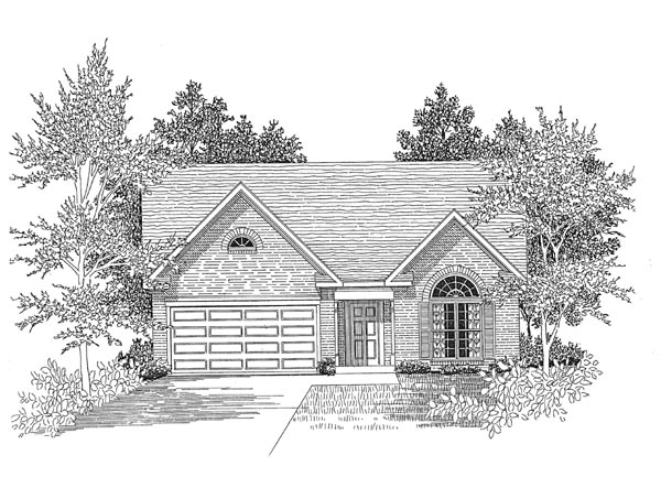 Traditional House Plan 58015 Elevation
