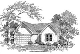 Plan Number 58016 - 1265 Square Feet