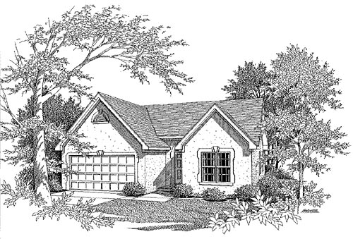 Traditional , Elevation of Plan 58016