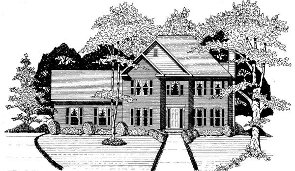 Traditional House Plan 58017 Elevation