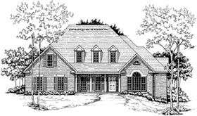 Cape Cod House Plan 58018 with 3 Beds, 2.5 Baths, 2 Car Garage Elevation