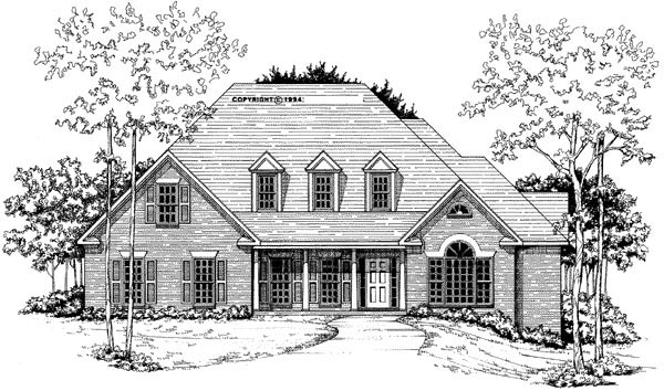 Cape Cod House Plan 58018 Elevation
