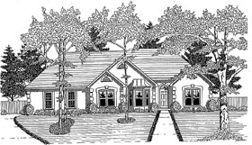 House Plan 58019 | Traditional Style Plan with 1802 Sq Ft, 3 Bedrooms, 2 Bathrooms, 2 Car Garage Elevation