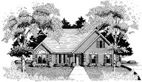 House Plan 58020 | Traditional Style Plan with 1801 Sq Ft, 3 Bedrooms, 2 Bathrooms, 2 Car Garage Elevation