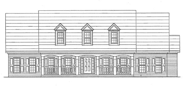 Ranch House Plan 58026 Elevation