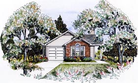 Traditional House Plan 58027 Elevation