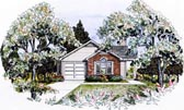 Plan Number 58027 - 1163 Square Feet