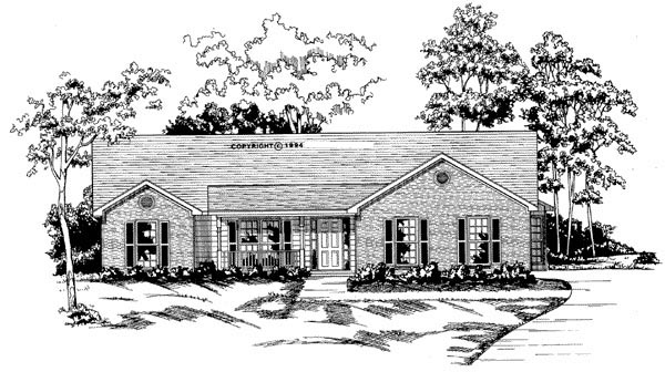 Traditional House Plan 58029 Elevation