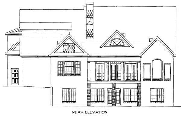 Southern House Plan 58030 Rear Elevation