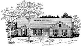 House Plan 58032 | Traditional Style Plan with 1610 Sq Ft, 3 Bedrooms, 2 Bathrooms, 2 Car Garage Elevation