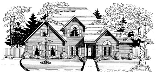 Traditional House Plan 58033 Elevation