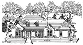 European House Plan 58038 Elevation