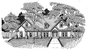 House Plan 58039 | Traditional Style Plan with 1831 Sq Ft, 3 Bedrooms, 2 Bathrooms, 2 Car Garage Elevation