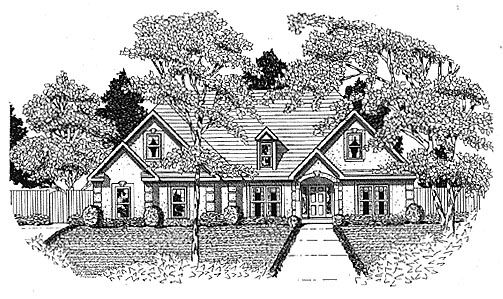 Traditional House Plan 58039 with 3 Beds, 2 Baths, 2 Car Garage Elevation