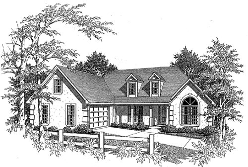 Traditional Elevation of Plan 58041