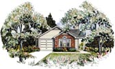 Plan Number 58045 - 1140 Square Feet