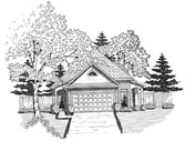 Plan Number 58046 - 1317 Square Feet