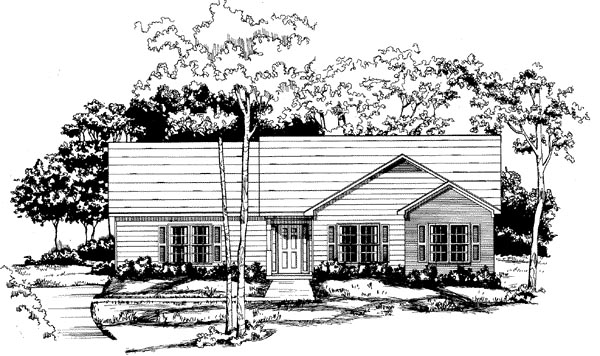 Ranch House Plan 58047 Elevation