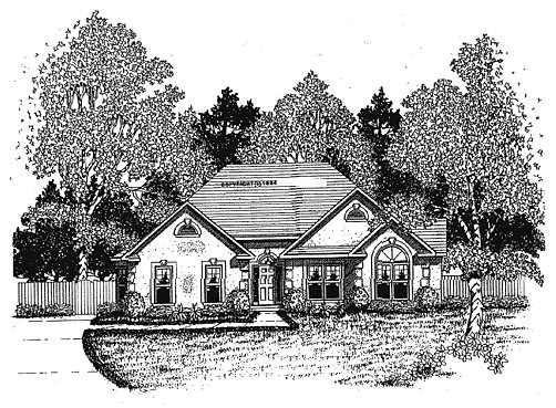 Traditional House Plan 58049 Elevation