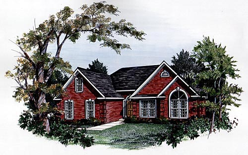 Traditional House Plan 58050 Elevation