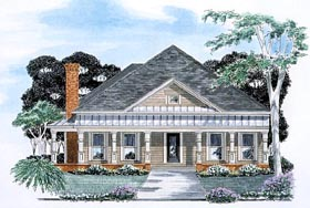 House Plan 58053 | Traditional Style House Plan with 1839 Sq Ft, 3 Bed, 3 Bath, 2 Car Garage Elevation