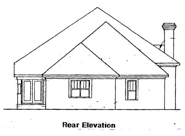 Traditional House Plan 58053 Rear Elevation