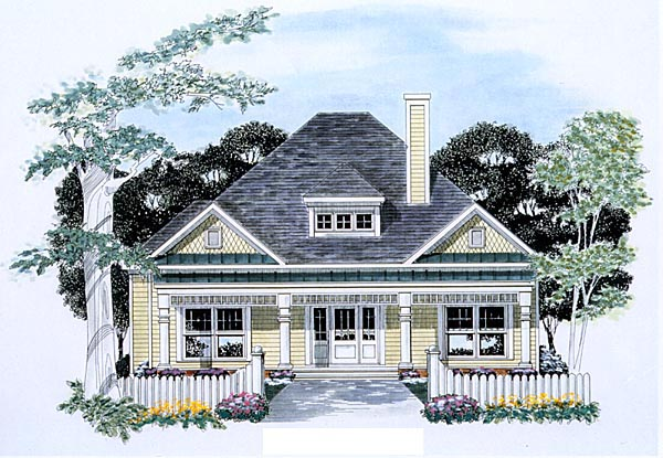 Traditional House Plan 58055 with 3 Beds, 2.5 Baths, 2 Car Garage Elevation