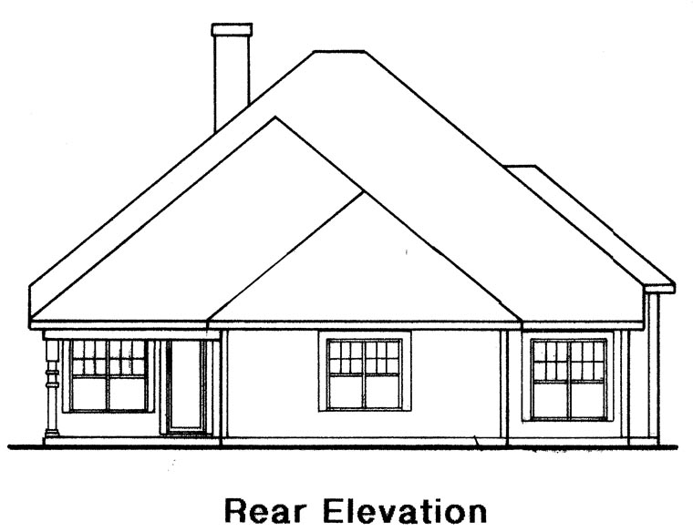 Traditional House Plan 58055 Rear Elevation