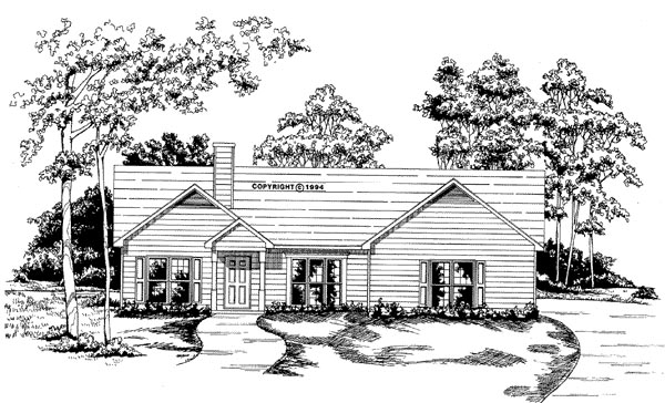 Ranch House Plan 58056 Elevation