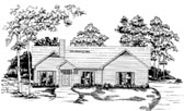 Plan Number 58056 - 1374 Square Feet