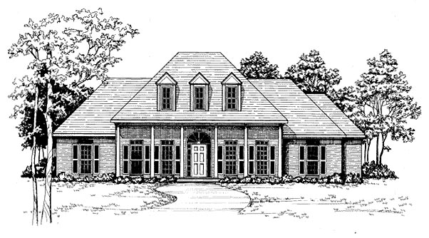 Colonial House Plan 58058 Elevation