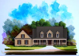 Cape Cod House Plan 58060 with 3 Beds, 2 Baths, 3 Car Garage Elevation