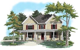 House Plan 58061 Elevation
