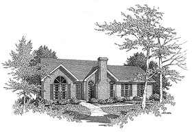 Traditional House Plan 58062 with 3 Beds, 2 Baths, 2 Car Garage Elevation