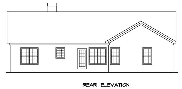 Traditional House Plan 58065 Rear Elevation