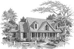 Craftsman House Plan 58067 with 4 Beds, 3.5 Baths, 2 Car Garage Elevation