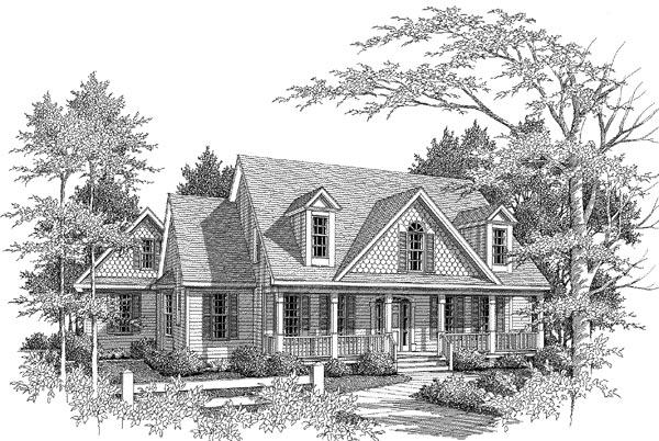 Craftsman House Plan 58067 Elevation