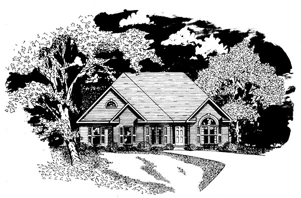 Traditional House Plan 58070 Elevation