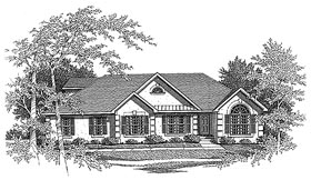 Traditional House Plan 58072 Elevation