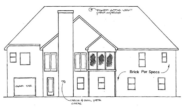 Traditional House Plan 58073 Rear Elevation