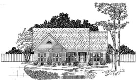 Traditional House Plan 58074 with 3 Beds, 2 Baths, 2 Car Garage Elevation
