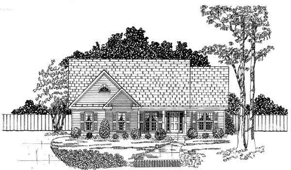 Traditional House Plan 58074 Elevation