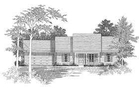 Ranch House Plan 58075 Elevation